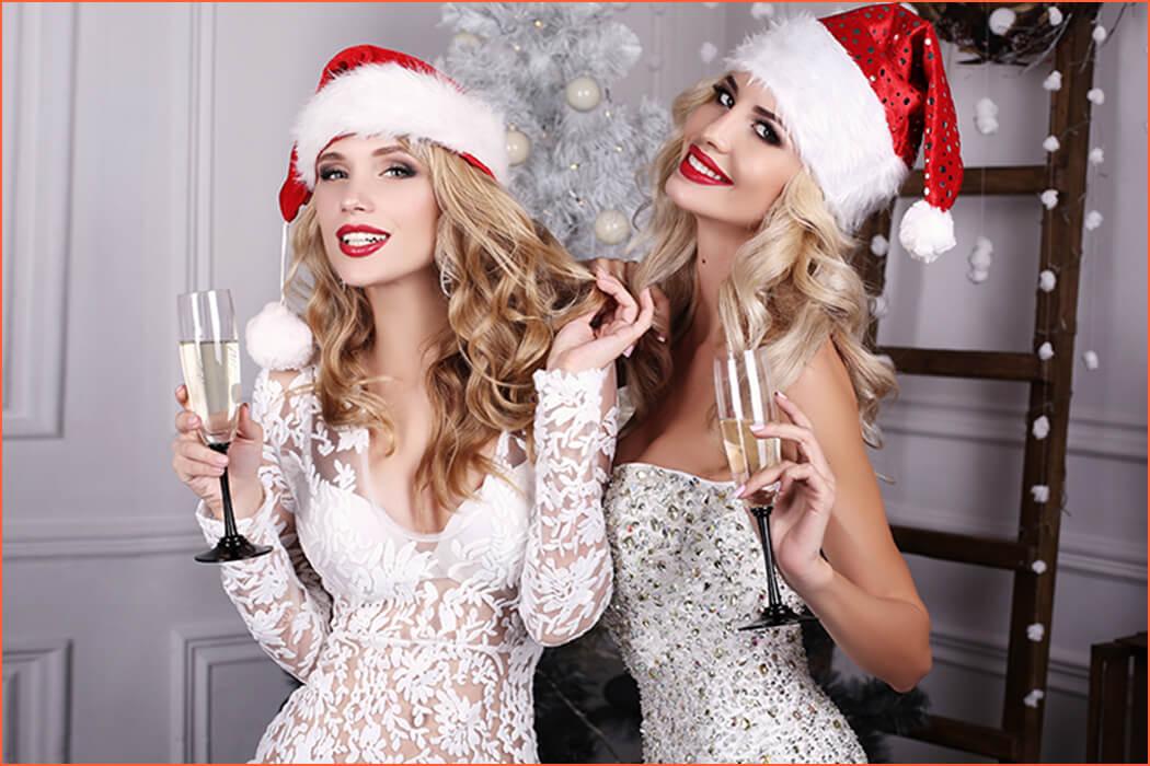 acompañantes de lujo en Navidad.