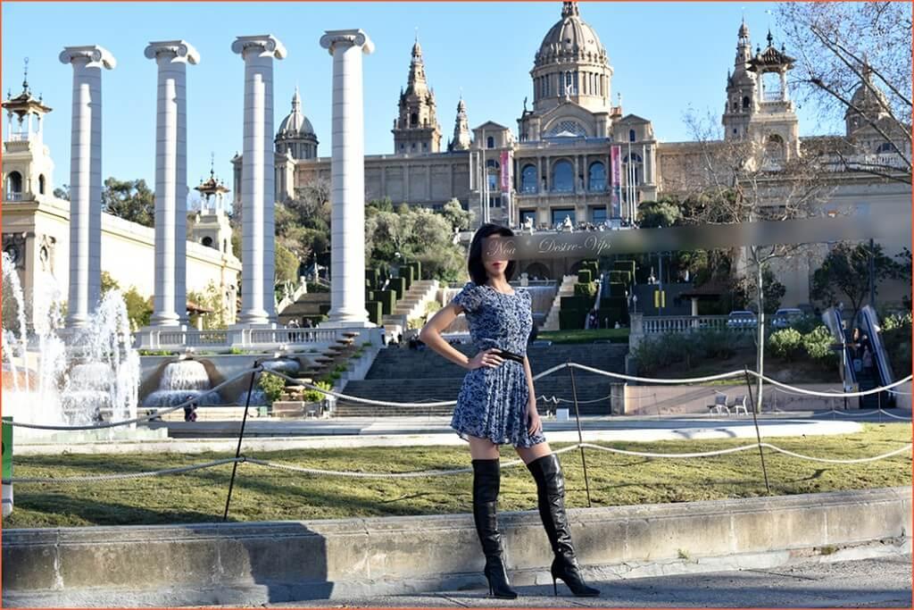 Noa španielsky sprievod vysoké postavenie v Barcelone.