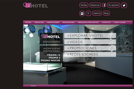 vhotel doprovod Madrid