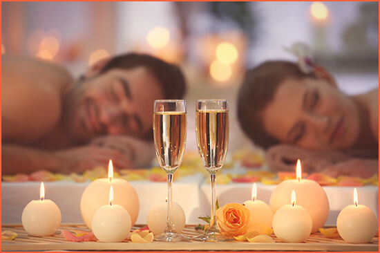 Erotic massage in hotel for couples