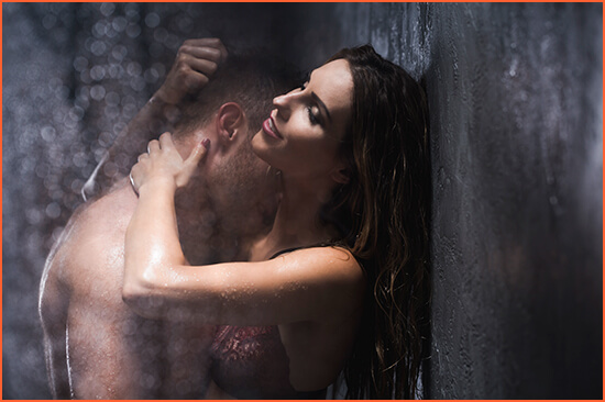 Erotic shower massage and jacuzzi
