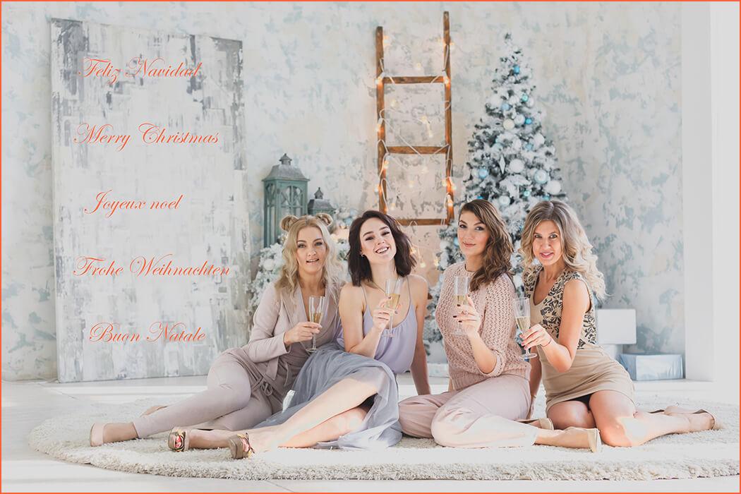 Las acompañantes de alto standing felicitan la Navidad